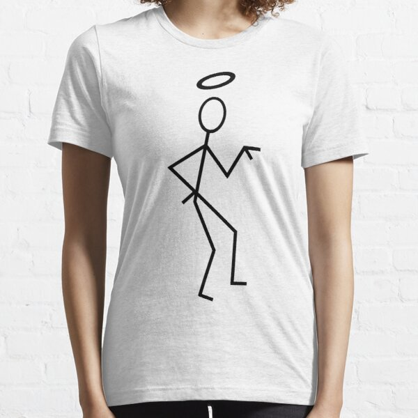 The Saint Stick Figure (Black). Essential T-Shirt