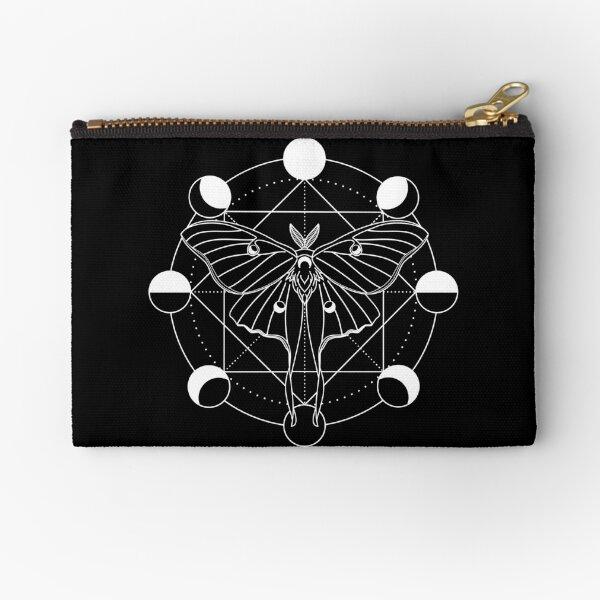 Luna Moth Moon Phase Zipper Pouch