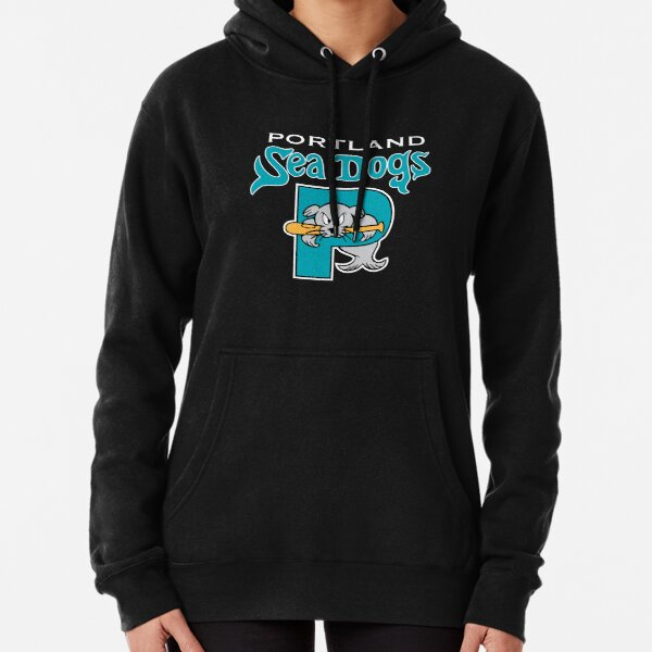 90's throwback Portland Sea Dogs  Pullover Hoodie