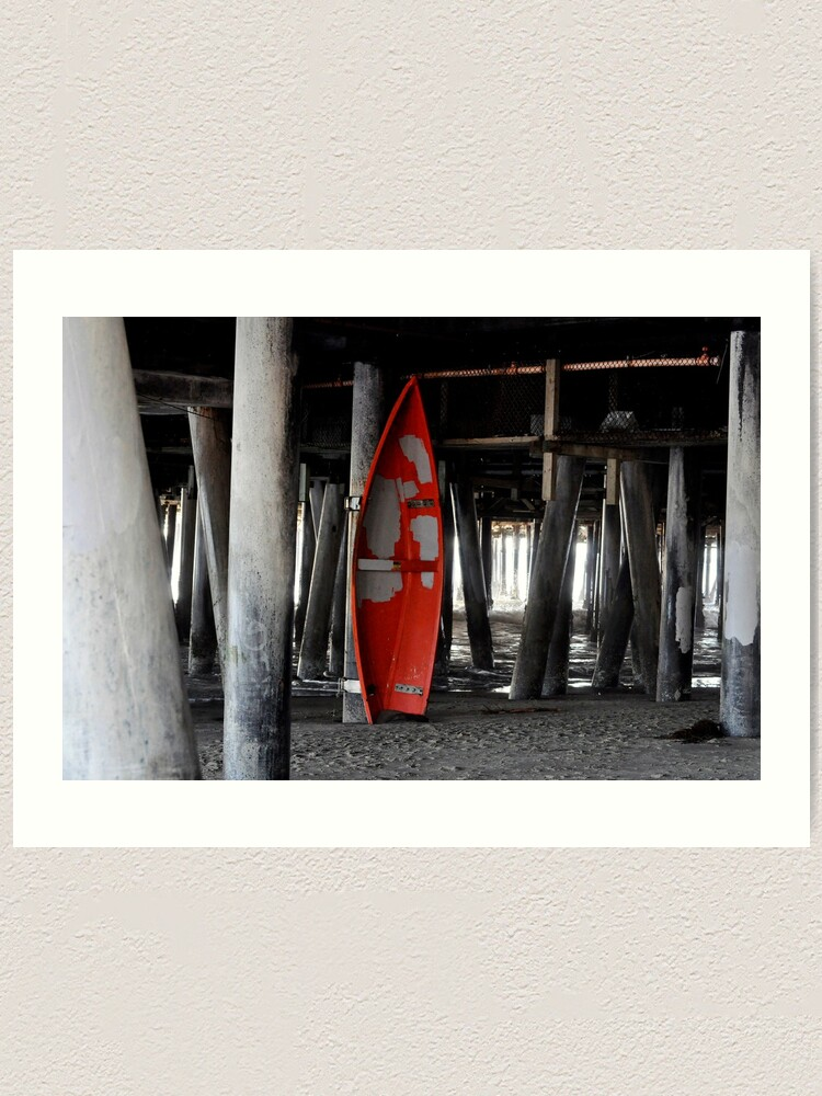 Alternate view of Little Red Boat Art Print