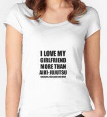 Aiki-Jujutsu Boyfriend Funny Valentine Gift Idea For My Bf Lover From Girlfriend Women's Fitted Scoop T-Shirt