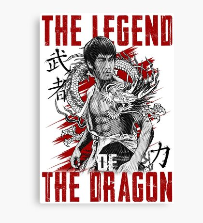 Bruce Lee The Legend of the Dragon Canvas Print