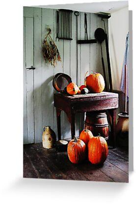 Pumpkins in Kitchen by Susan Savad