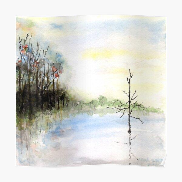 One Tree Lake Poster