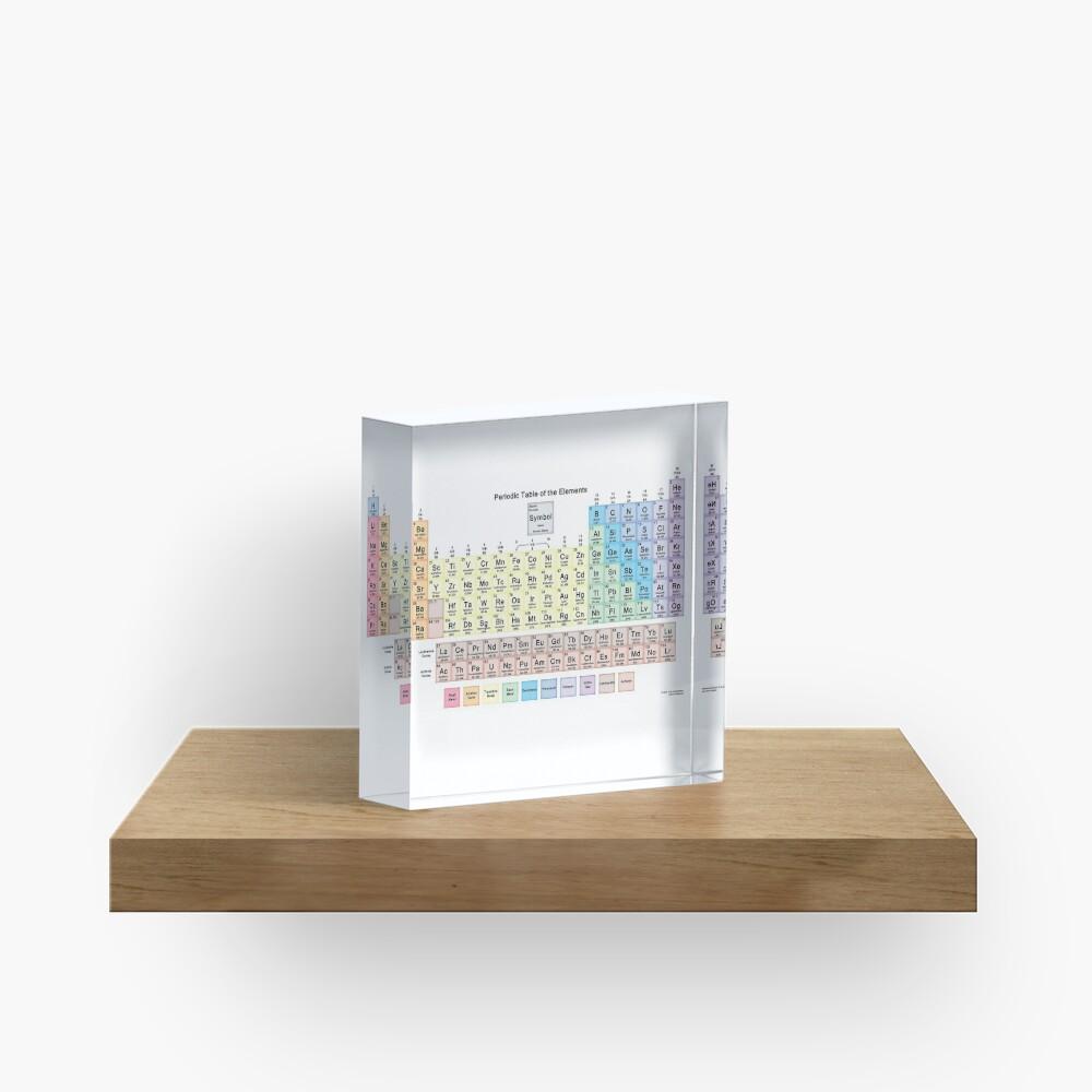 #Периодическаятаблица #Periodic #Table of the #Elements #PeriodicTableoftheElements  Acrylic Block