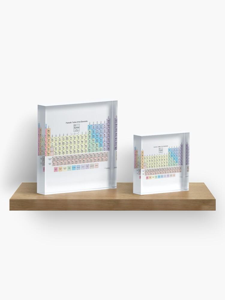 Alternate view of #Периодическаятаблица #Periodic #Table of the #Elements #PeriodicTableoftheElements  Acrylic Block