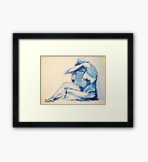 Nude Woman-India Ink Framed Print