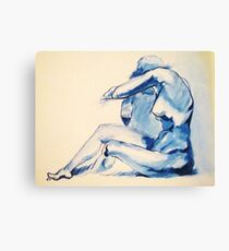 Nude Woman-India Ink Canvas Print