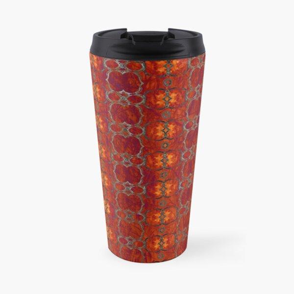 African Horn Stripe Bold Colors Travel Mug