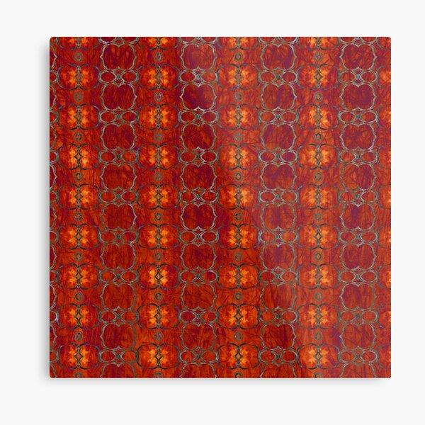 African Horn Stripe Bold Colors Metal Print