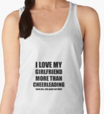 Cheerleading Boyfriend Funny Valentine Gift Idea For My Bf Lover From Girlfriend Women's Tank Top