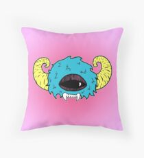 Colorful Monster Mask Throw Pillow
