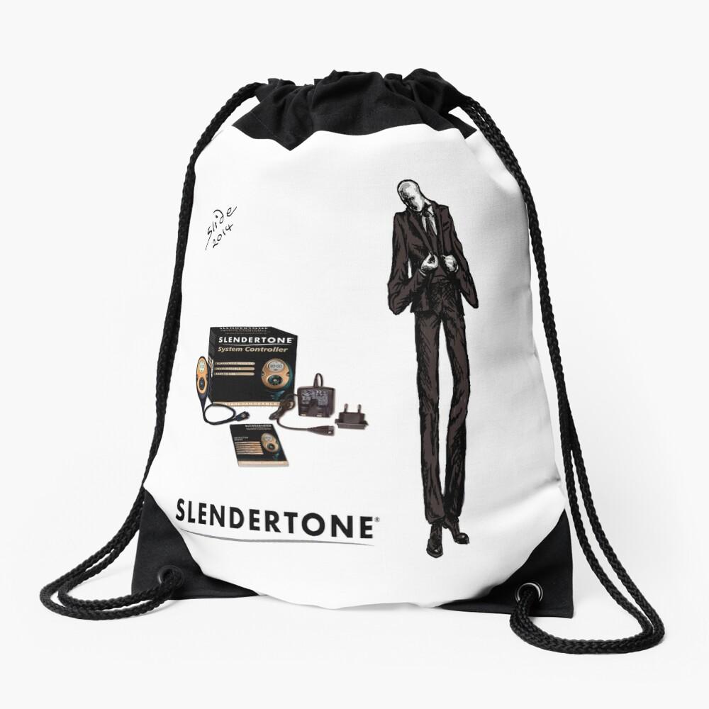 Slenderman Drawstring Bag