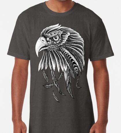 Impressive Hand Drawn Stylized Golden Eagle Portrait  Long T-Shirt