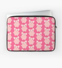 Curious Cartoon Pigs by Cheerful Madness!! Laptop Sleeve