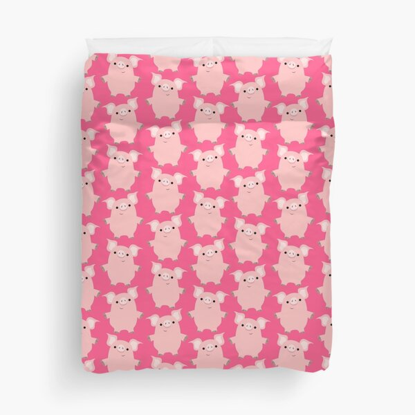 Curious Cartoon Pigs by Cheerful Madness!! Duvet Cover