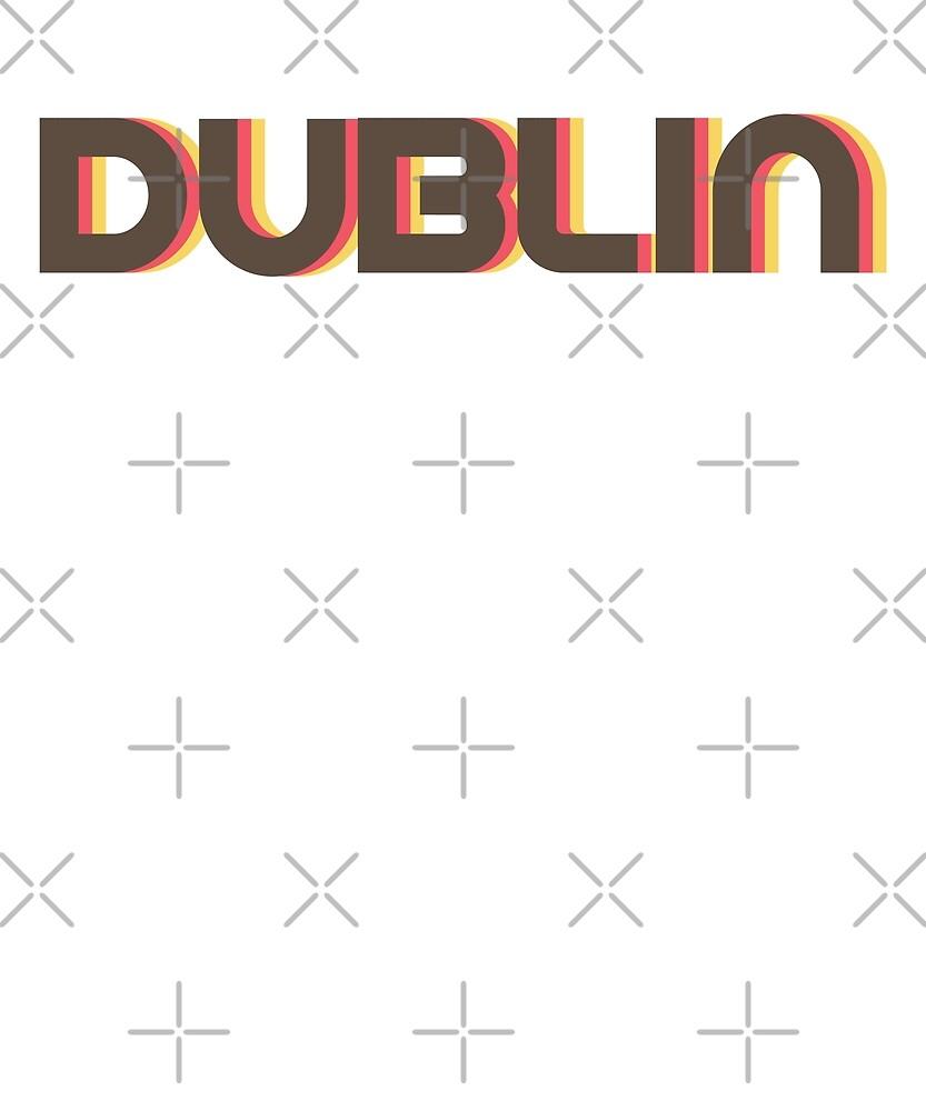 Retro Dublin T-Shirt by designkitsch