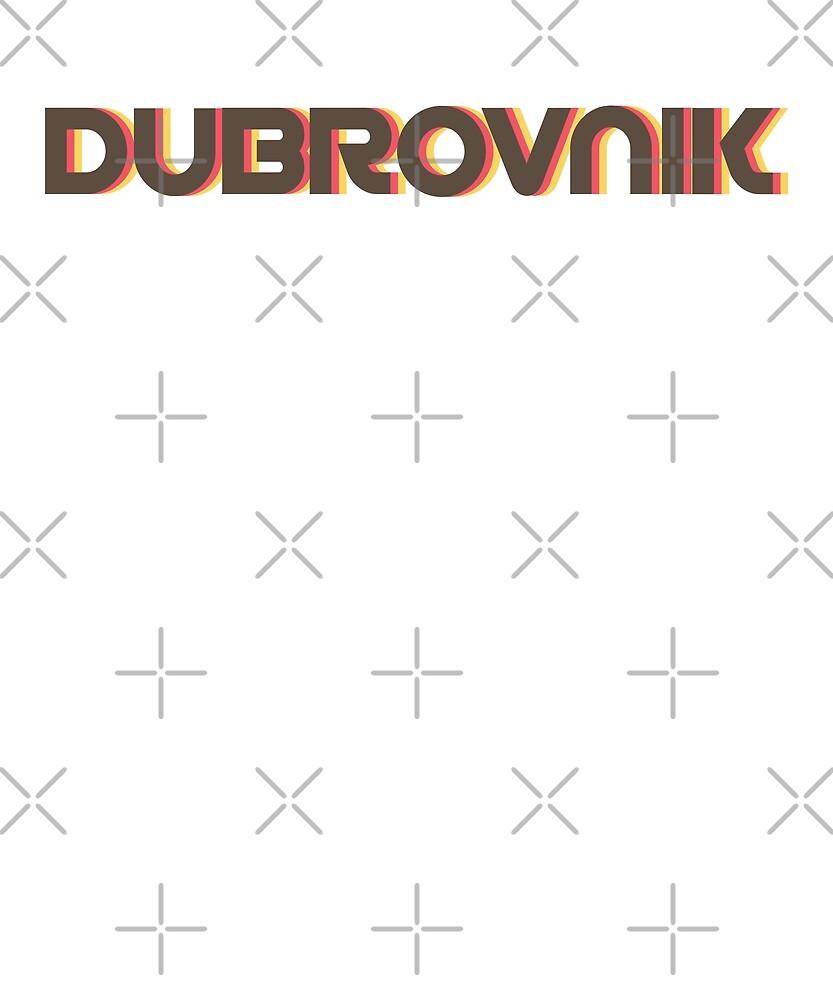 Retro Dubrovnik T-Shirt by designkitsch