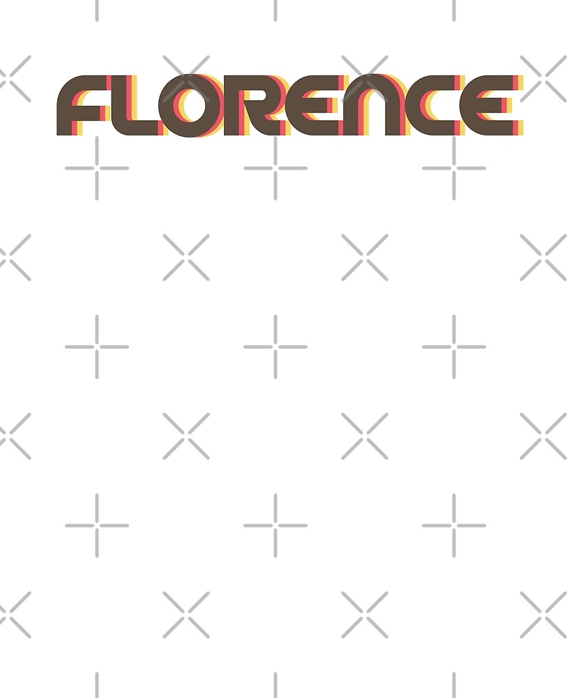 Retro Florence T-Shirt by designkitsch