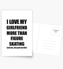 Figure Skating Boyfriend Funny Valentine Gift Idea For My Bf Lover From Girlfriend Postkarten