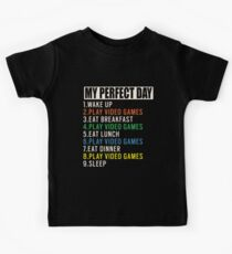 My Perfect Day Video Games T-shirt Funny Cool Gamer Gift Kids T-Shirt