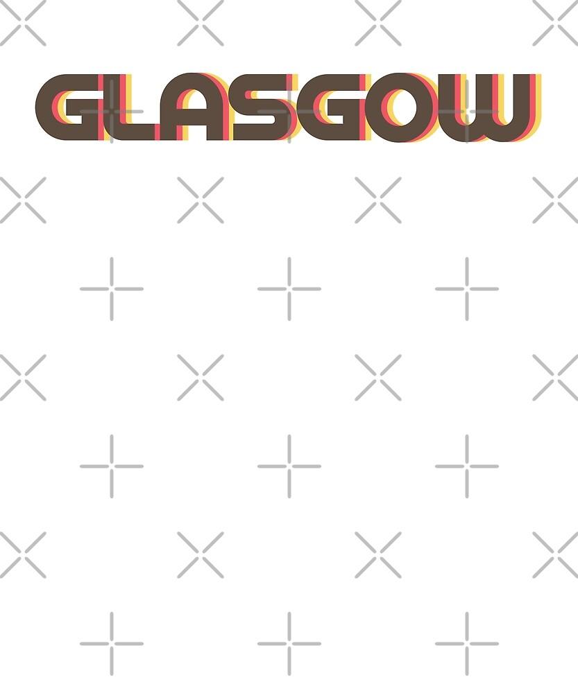 Retro Glasgow T-Shirt by designkitsch