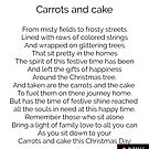 Carrots and cake by Alan Findlater