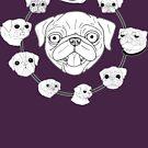 Pug Circle by emo-seal