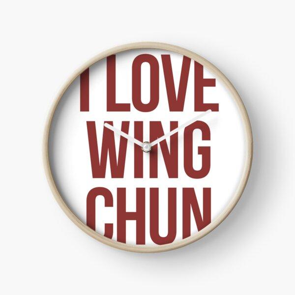 Wing Chun Love (note dark pink) 2018 Clock