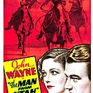 Vintage Hollywood Nostalgia The Man From Utah John Wayne Film Movie Advertisement Poster by jnniepce
