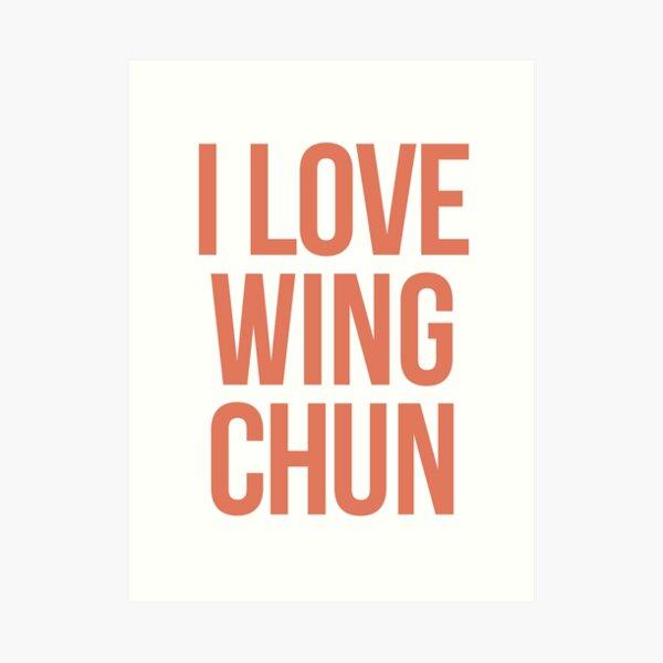Wing Chun Love (note cream) 2018 Art Print