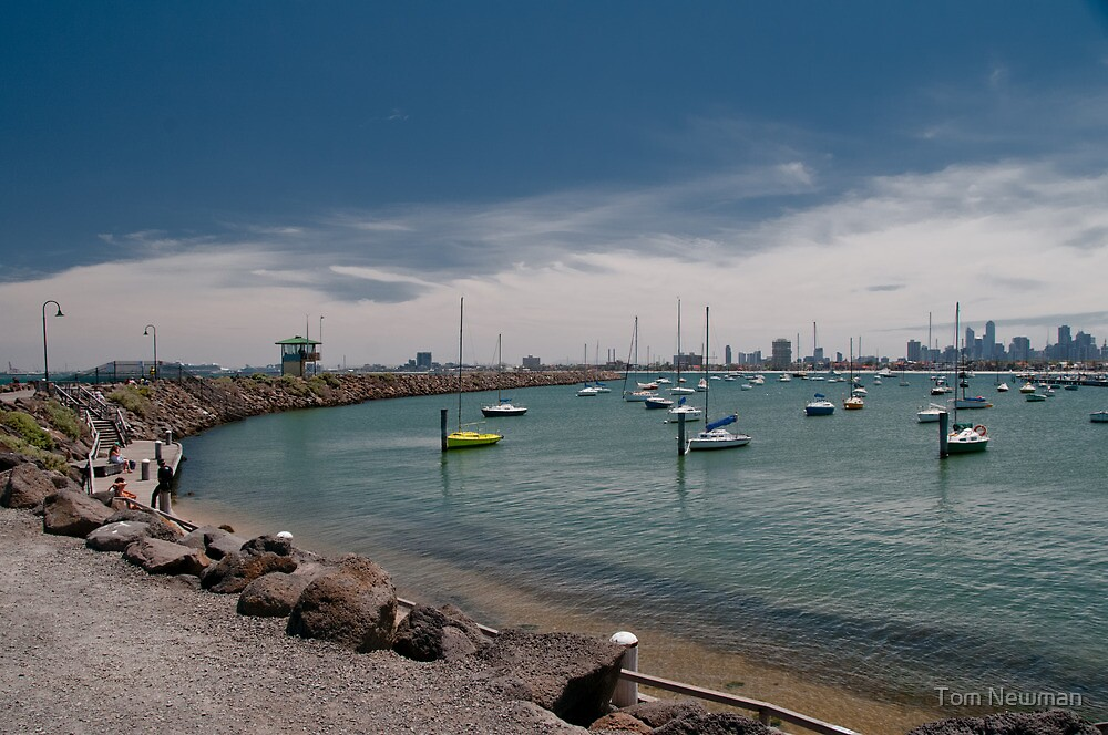 Harbour at St Kilda by Tom Newman