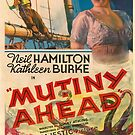 Vintage Hollywood Nostalgia Mutiny Ahead Film Movie Advertisement Poster by jnniepce