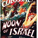 Vintage Hollywood Nostalgia Moon of Israel Film Movie Advertisement Poster by jnniepce