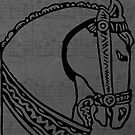 War horse head Andalusian horse outline by Epic Splash Creations
