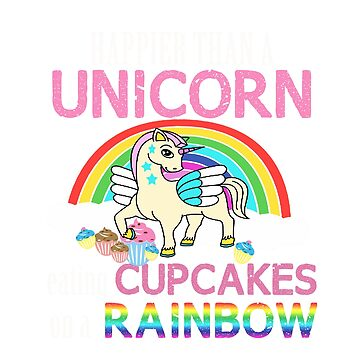 Unicorn Cupcakes T-Shirt  by RadTechdesigns
