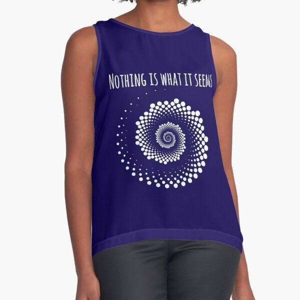 Nothing Is What It Seems - Optical Illusion Sleeveless Top
