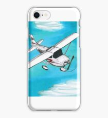 Airplane and Clouds iPhone Case/Skin