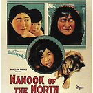 Vintage Hollywood Nostalgia Nanook of the North Film Movie Advertisement Poster by jnniepce