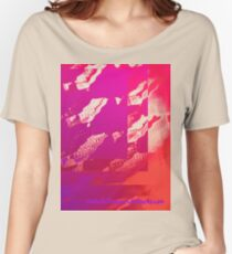 Fuchsia Abstract Relaxed Fit T-Shirt