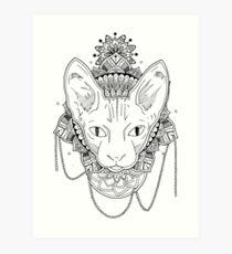 Lámina artística Gato Mandala