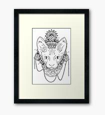 Lámina enmarcada Gato Mandala