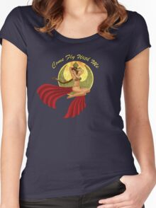 Slave War Pin Up Women's Fitted Scoop T-Shirt