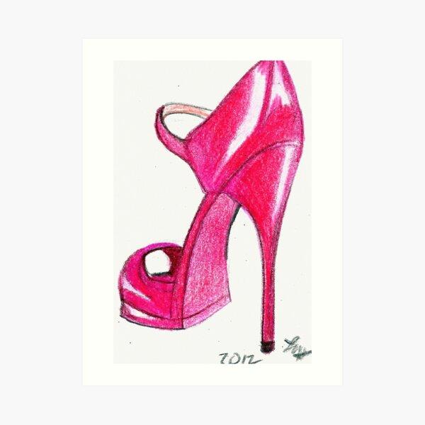 Red Stiletto Art Print