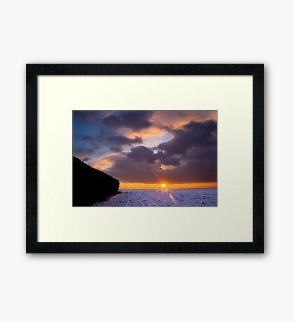 Almost Night Framed Print