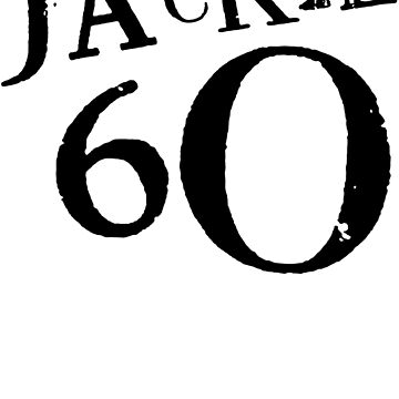Jackie 60 Classic Black Logo on White  by jackiefactory