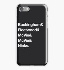 Fleetwood Mac - Last Names iPhone Case/Skin