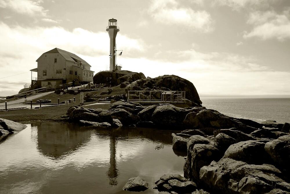 Cape Forchu Lighthouse, Yarmouth, NS by Harv Churchill