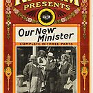Vintage Hollywood Nostalgia Our New Minister Film Movie Advertisement Poster by jnniepce