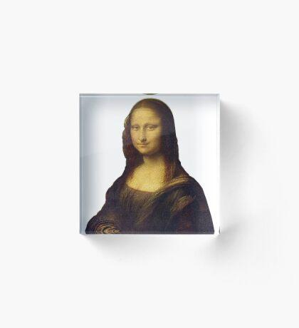 Mona Lisa Grunge Acrylic Block
